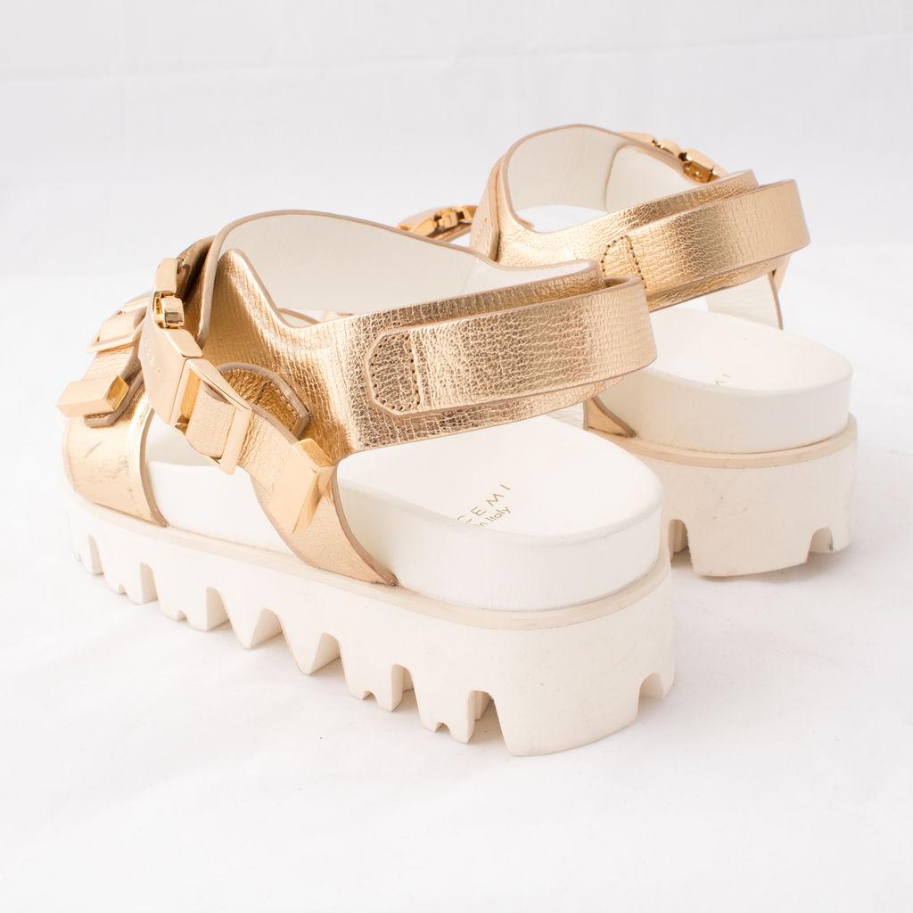 Buscemi Buckled Flatform Sandal