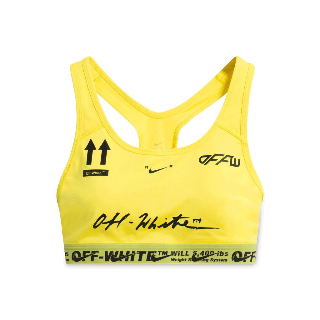 Nike x Off-White Sport Yellow Sports Bra