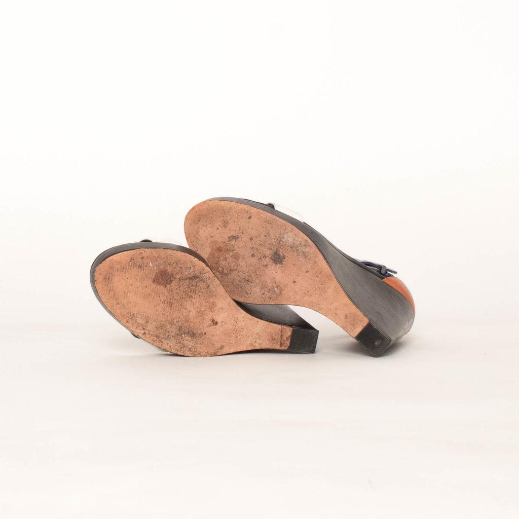 BCBGMAXAZRIA Ledge Colorblock Wedge Sandals