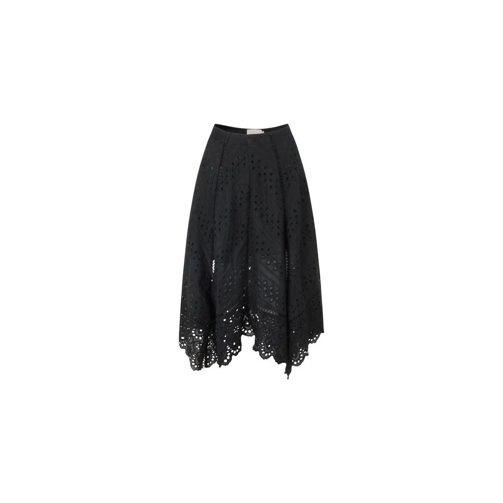 Zimmermann Black Lace Eyelet Skirt