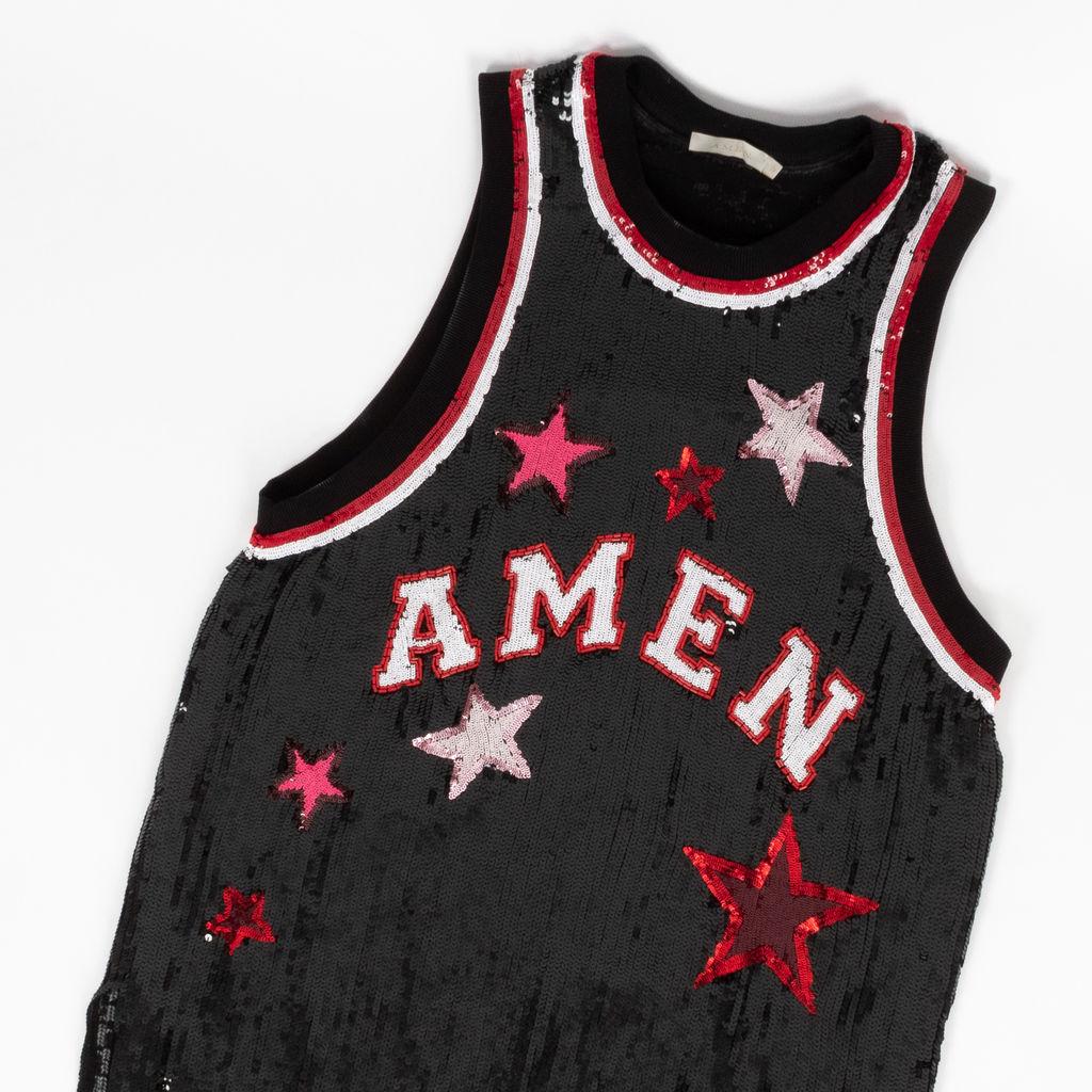 Amen Couture Paillette Embellished Jersey Dress