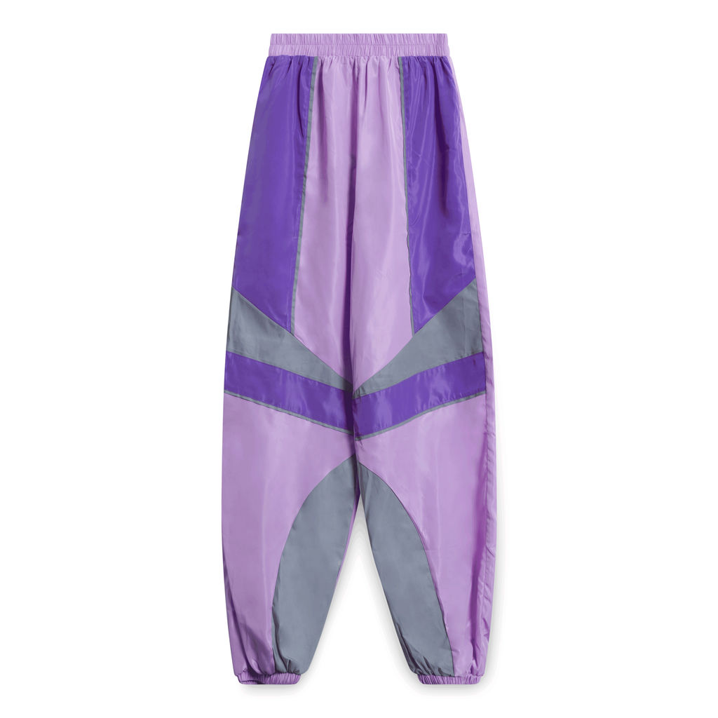 Lilac Contrast Panel Shell Joggers - Purple