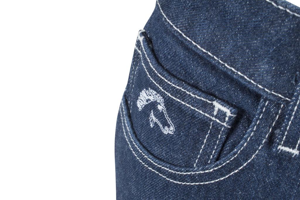 Jordache High-Rise Contrast Stitch Slim Denim