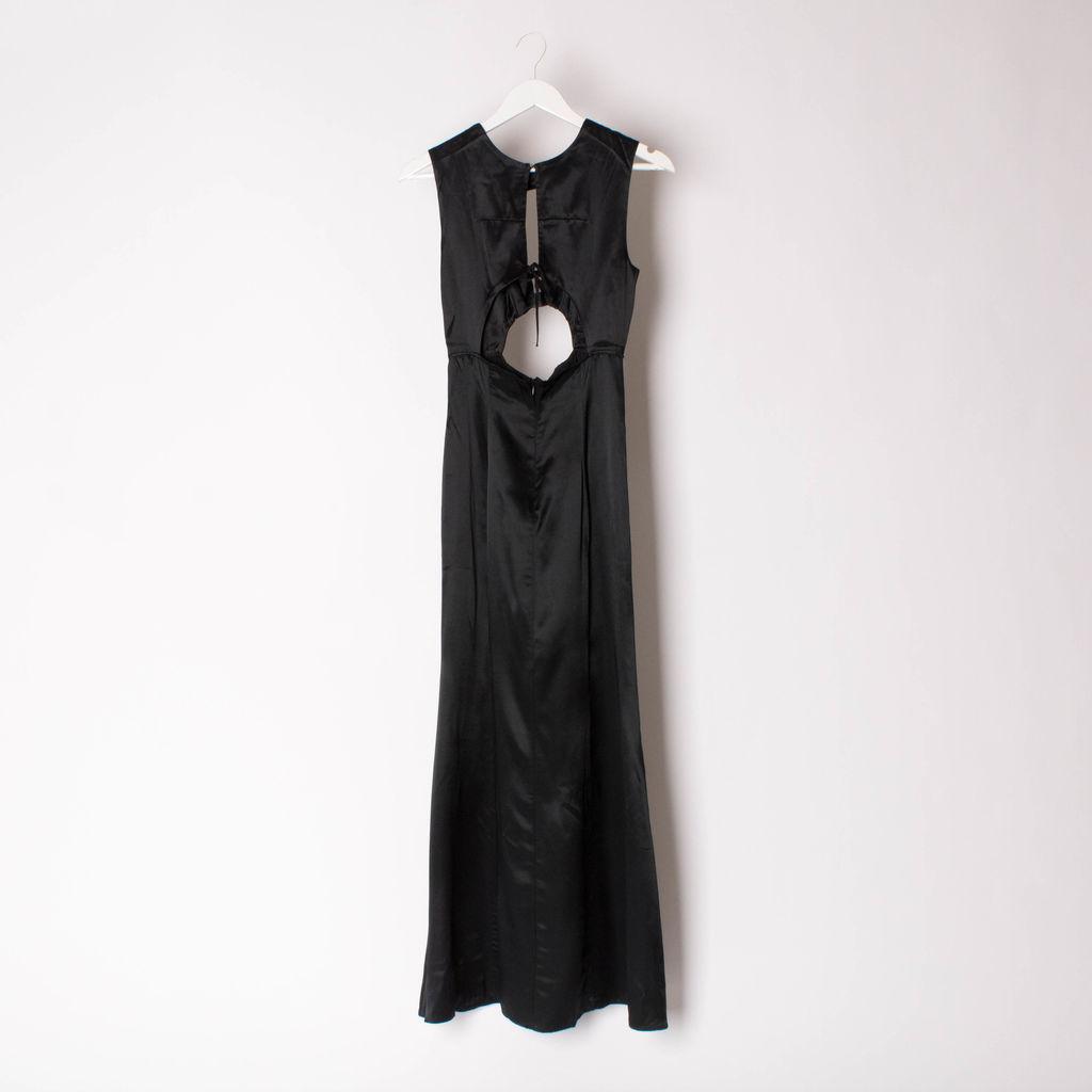 Vintage Satin Slit Dress