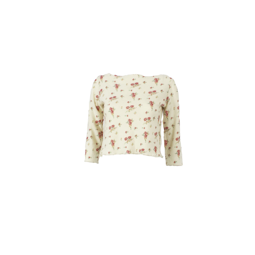 Marni Cropped & Patterned Cashmere Sweater