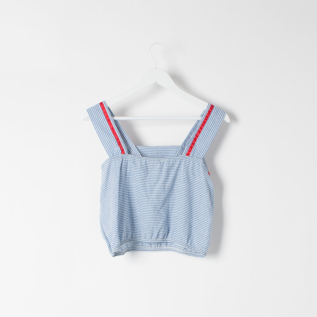 Vintage Hang Ten Striped Babydoll Top curated by Sophia Amoruso