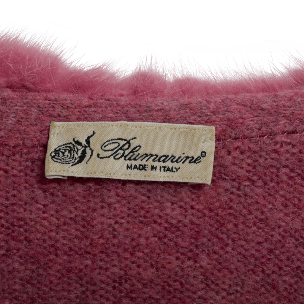 Vintage Blumarine Cardigan with Fur Trim