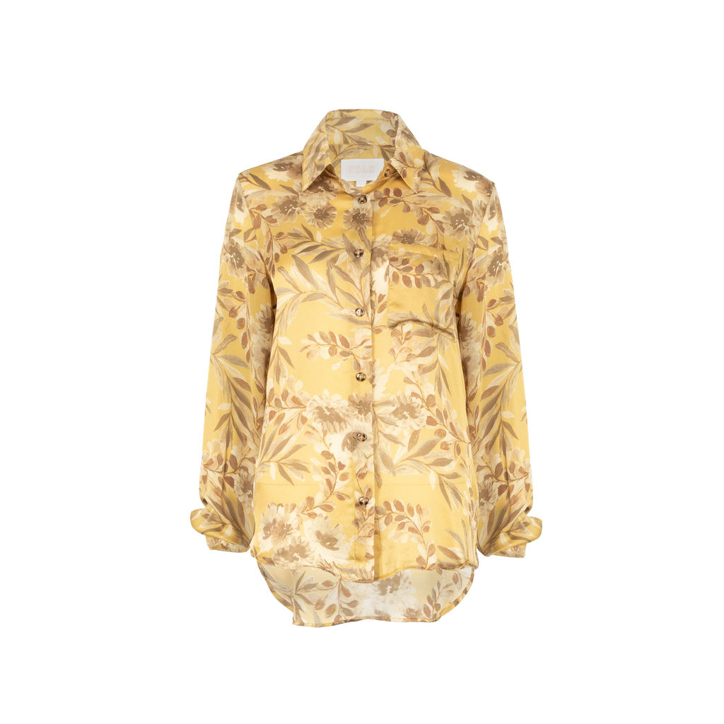 Stone Cold Fox Silk Floral Blouse
