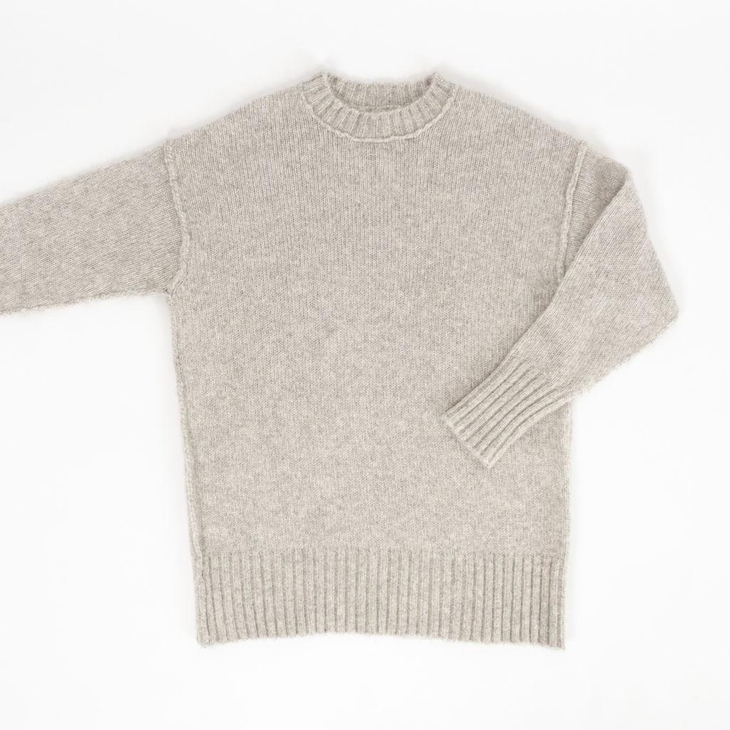R13 Oversized Mohair Crewneck Sweater