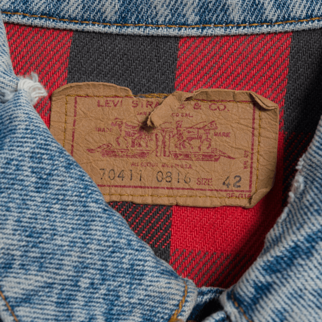 Vintage Levi's Flannel Lined Trucker Jacket