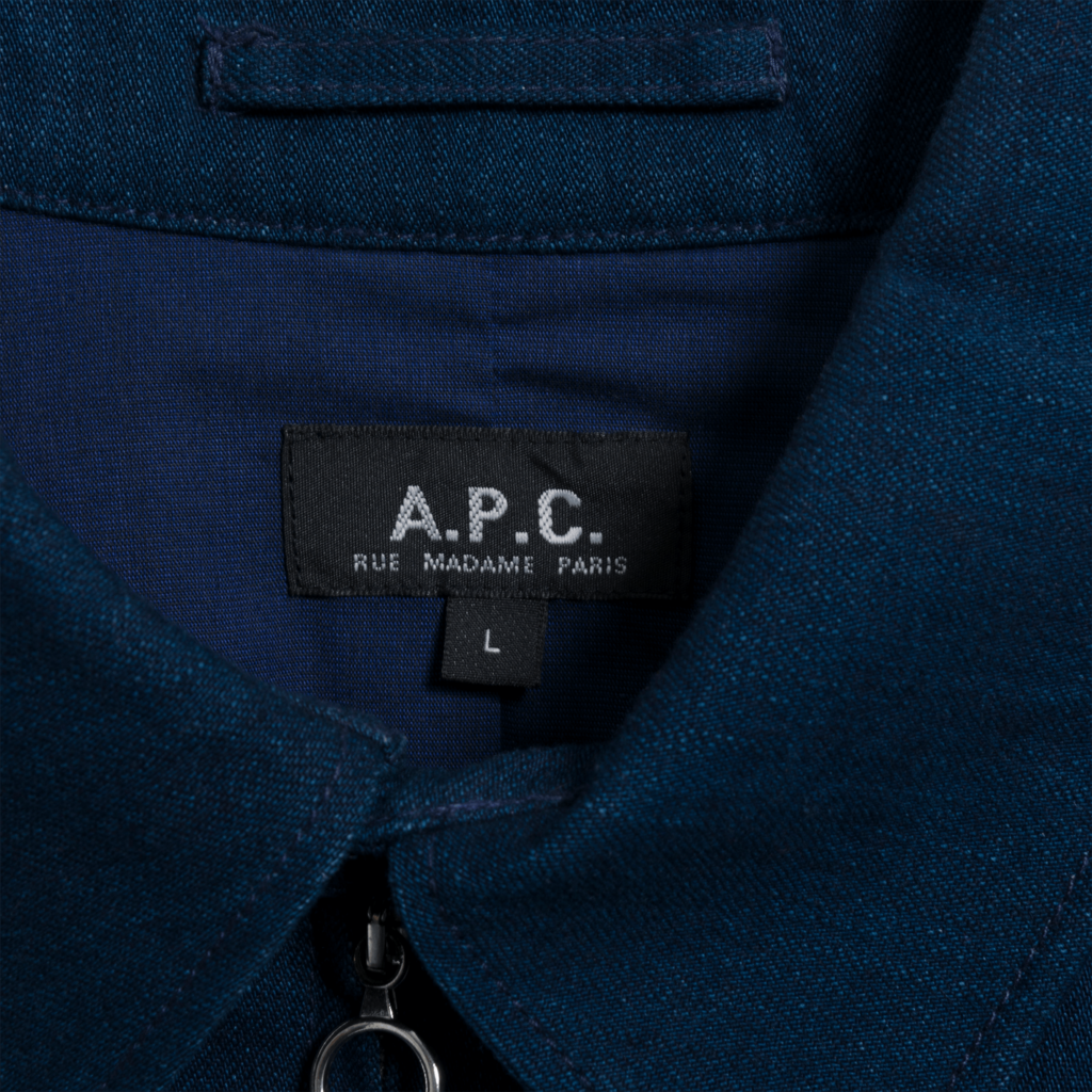 APC Dark Denim Zip-Up Jacket