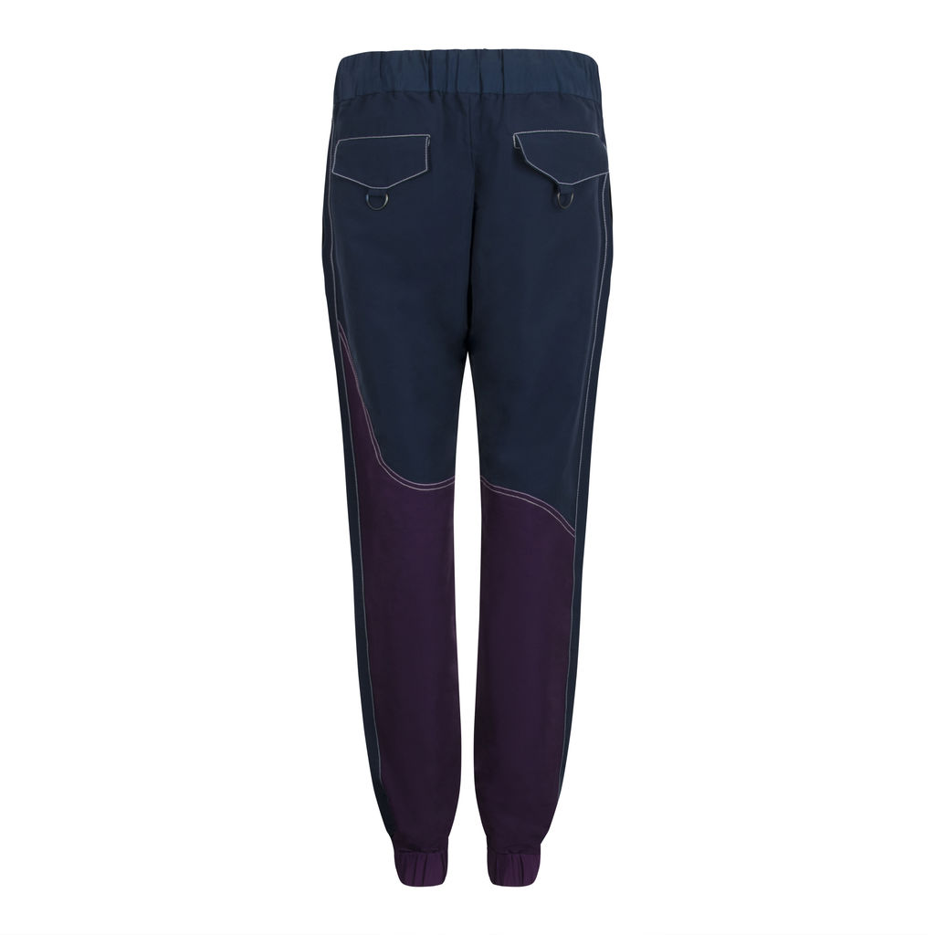 Pyer Moss Two Tone Jogger Pant- Regal Purple/Navy