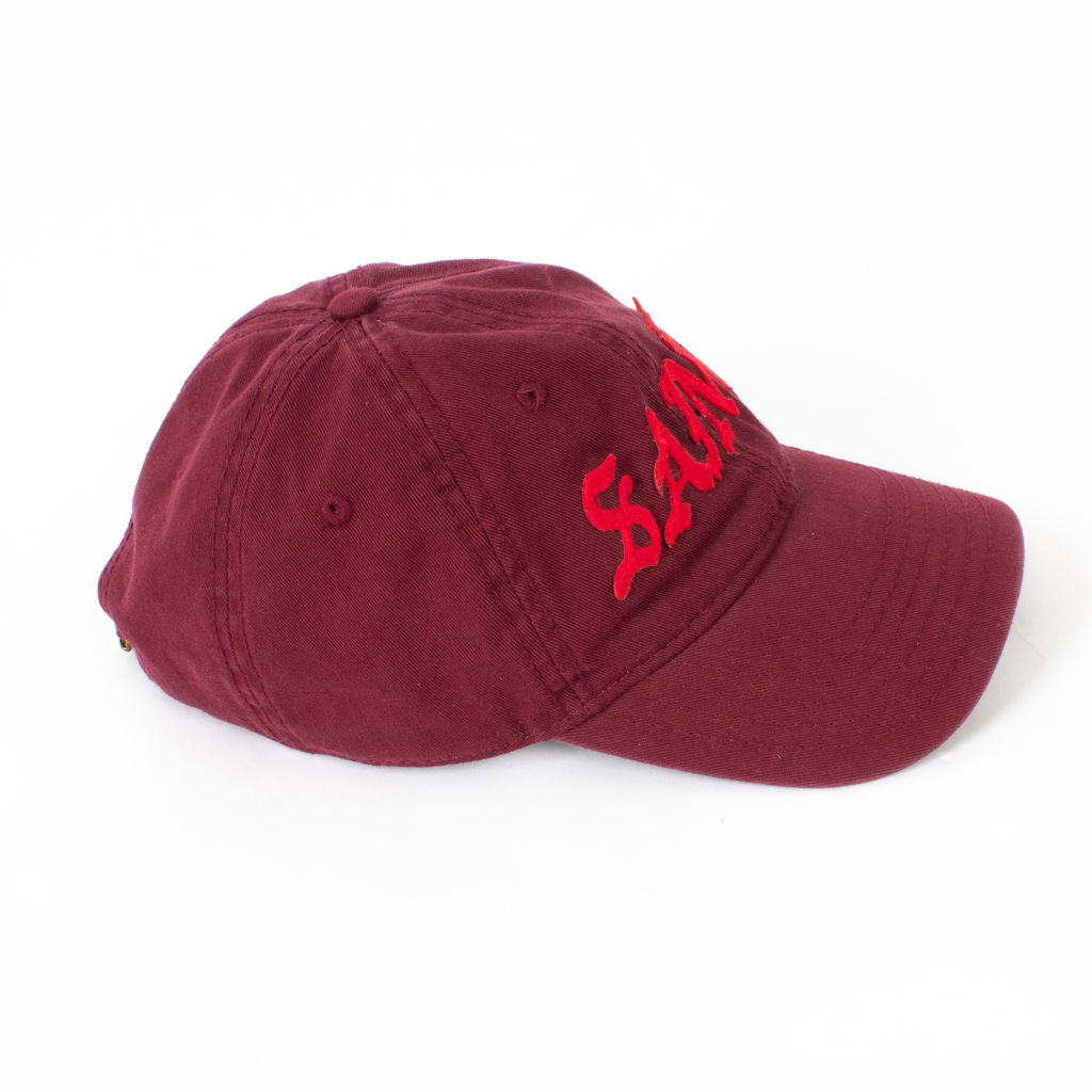 Kanye West Saint Pablo Tour Burgundy Dad Hat