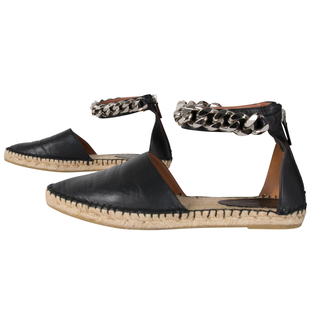 Givenchy Espadrille Sandals with Chain detail