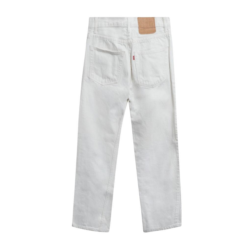 White Boyfriend Fit Jeans