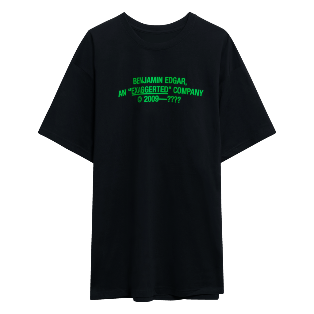 Benjamin.Edgar 'Exaggerated' T-Shirt in Black/Green