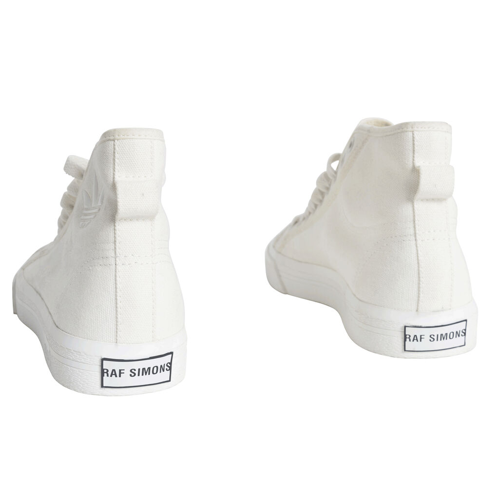 Adidas by Raf Simons Spirit Canvas High-Top Sneakers - Off White