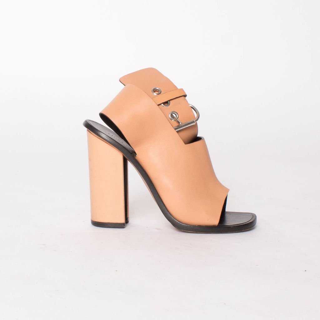 Céline Tan Ankle Wrap Heel