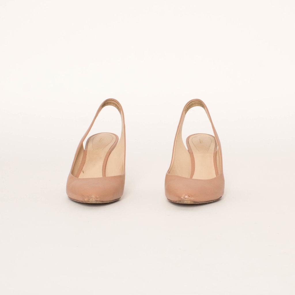 Chloe Leather Mid Heel Slingback Shoes