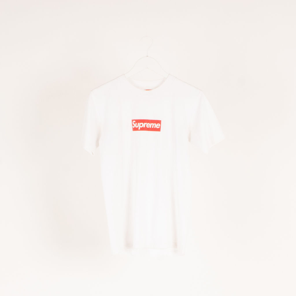 Supreme 20th Anniversary Box Logo Tee in White