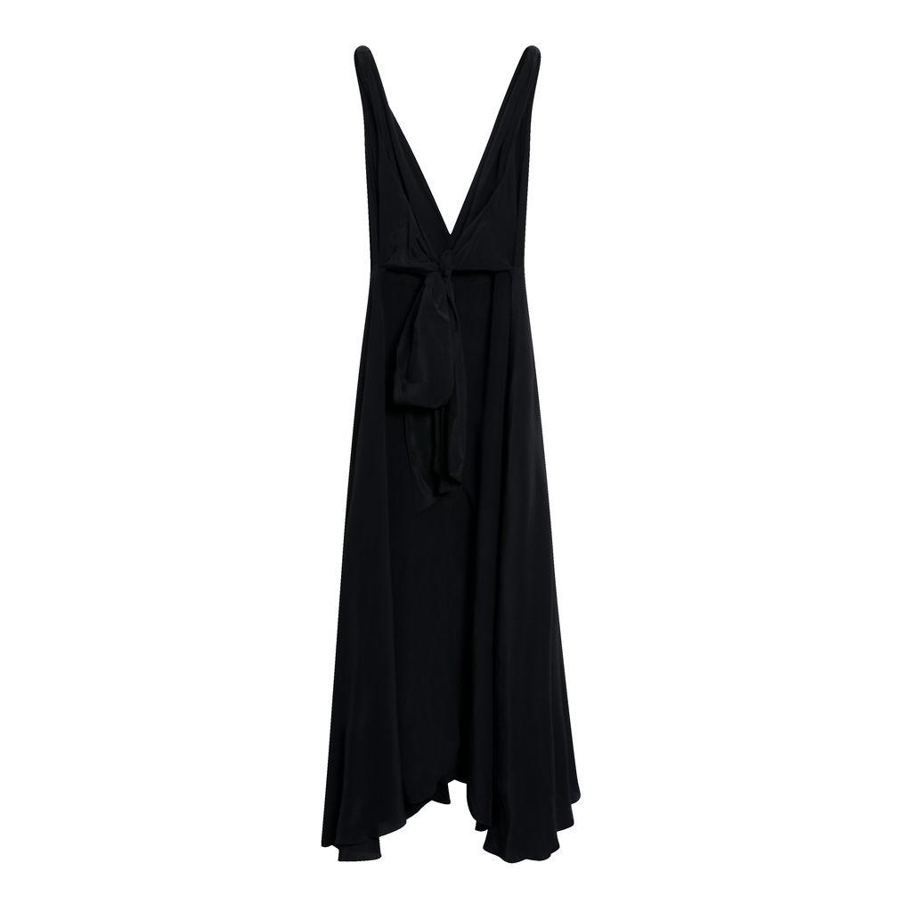 Cirrus Crepe de Chine Black Dress