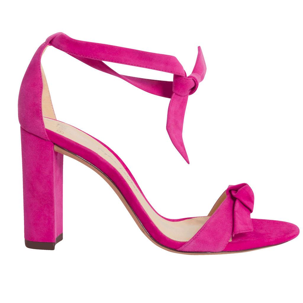 Alexandre Birman Clarita Bow Tie Block Heel Sandal