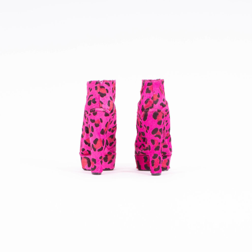 Neon Leopard Print Mohair Boots curated by Erica Hass