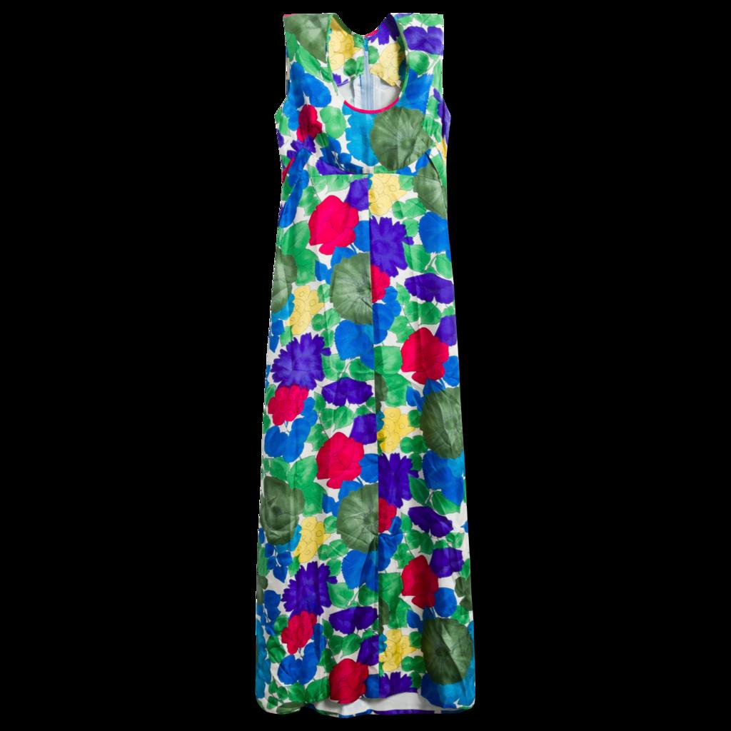 Patterned Maxi Dress / Scarf Set
