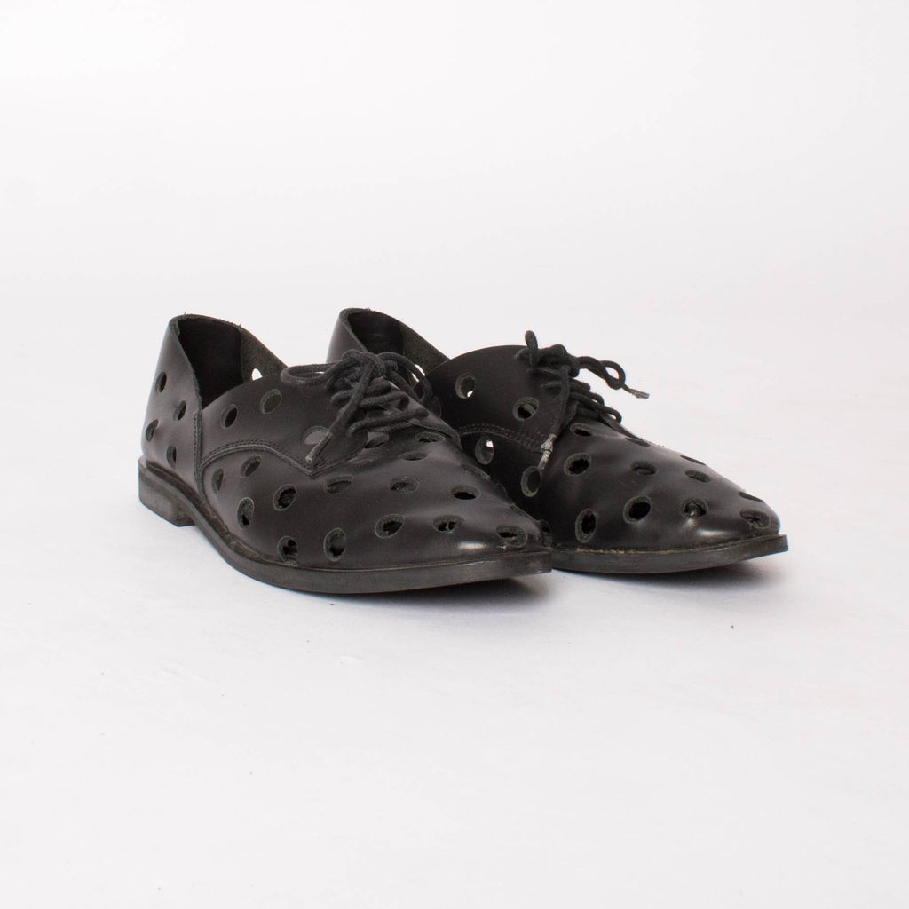 Rachel Comey Black Acker Perforated Oxford