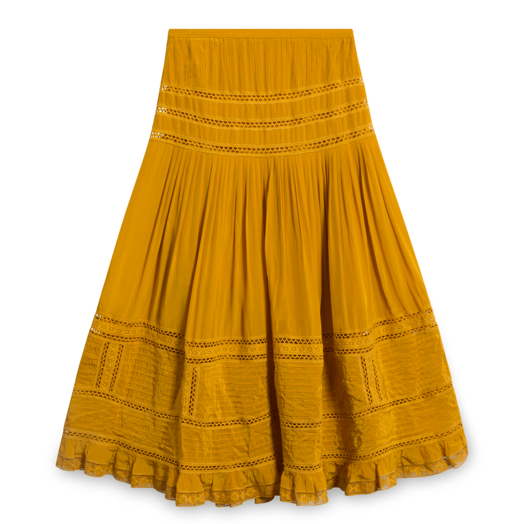 Sea New York Marigold Pleated Midi Skirt