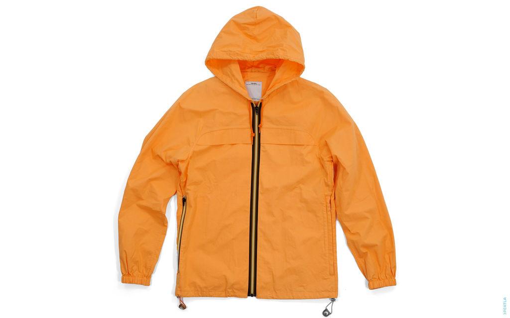 Visvim Brown Border Zipper Cotton Zip-up Parka Jacket