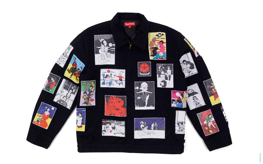 Supreme Art Collage Applique Work Jacket