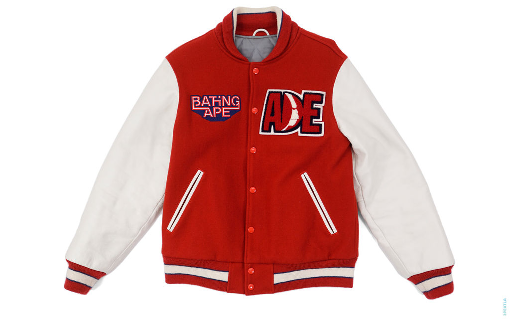 Classic Collection Beast Reign Supreme Leather Varsity Jacket red
