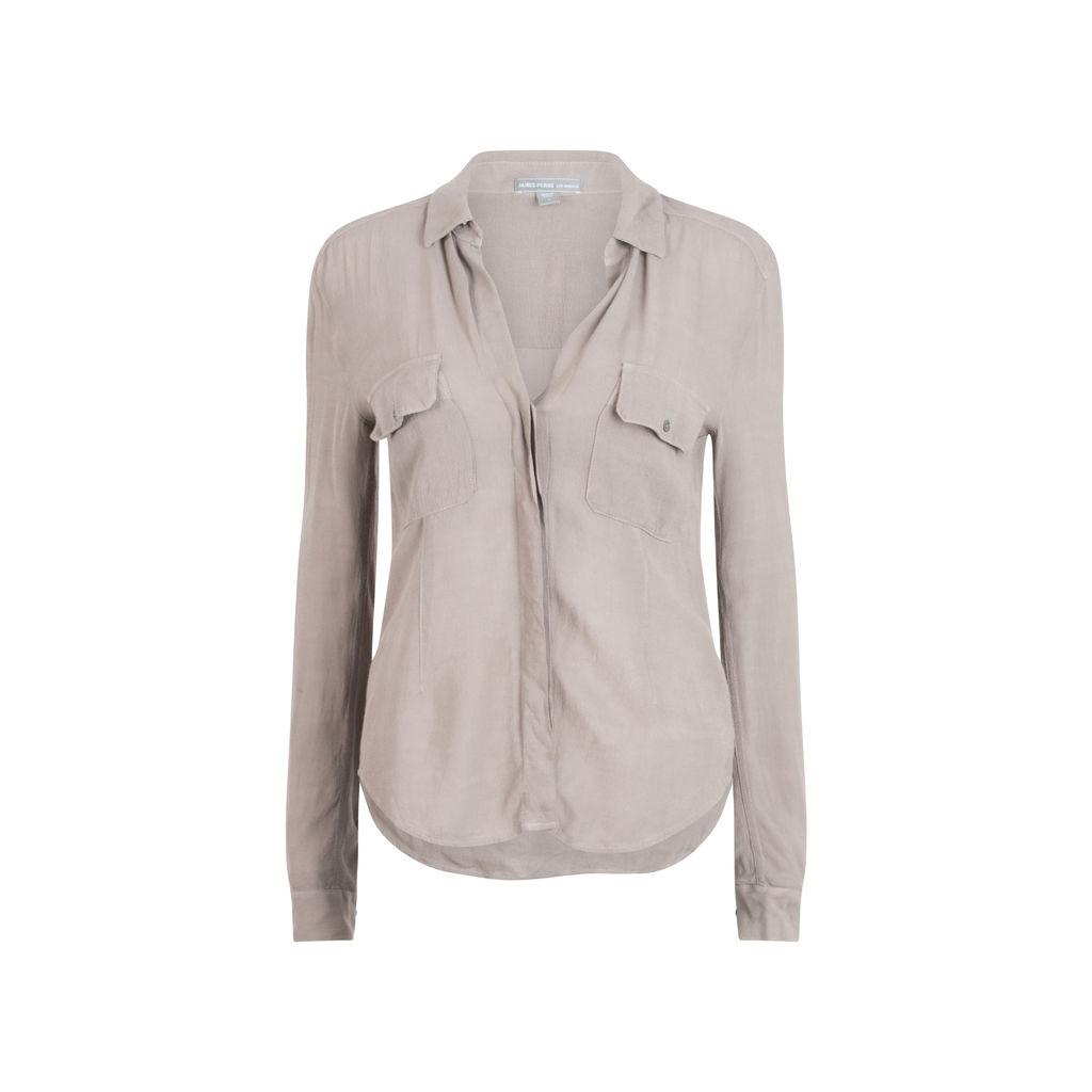 James Perse Sheer Surplus Shirt