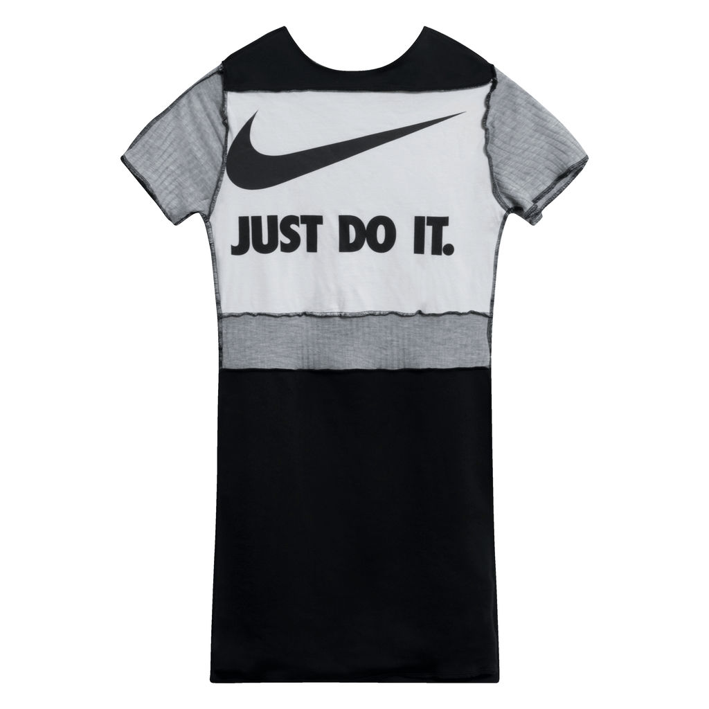 JJVintage Reworked Nike Dress in White/Grey/Black