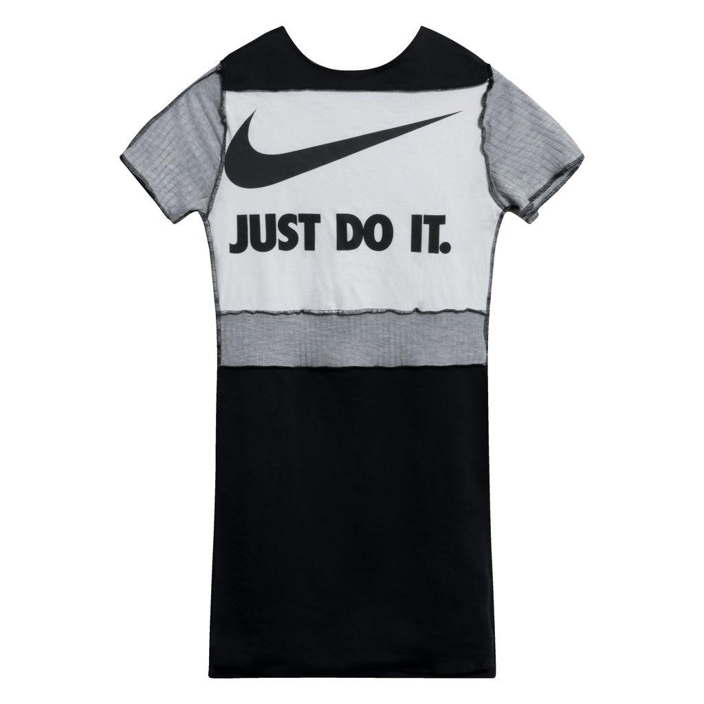JJVintage Reworked Nike Dress in White/Grey/Black