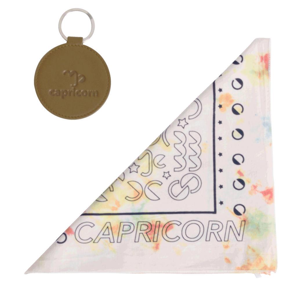 DOOZ Capricorn Bandana + Keychain Set in Tie Dye