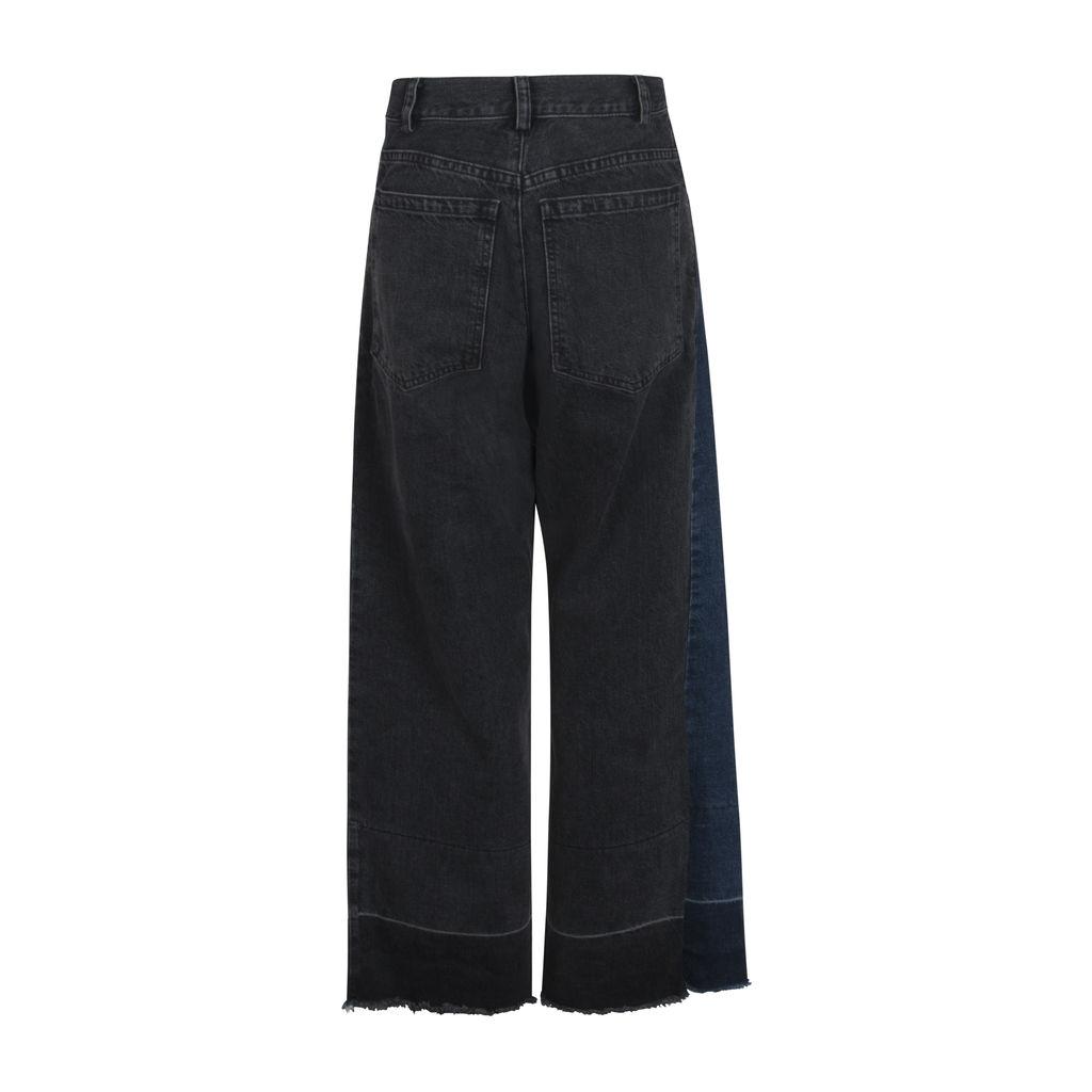 Rachel Comey Two-Tone Legion Jeans- Indigo/Black