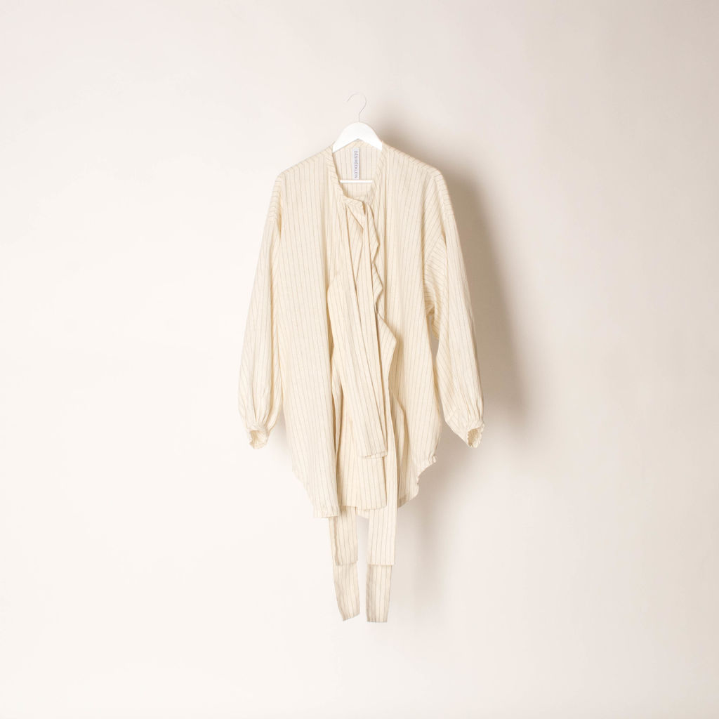 DESIREEKLEIN Striped Kinski Dress