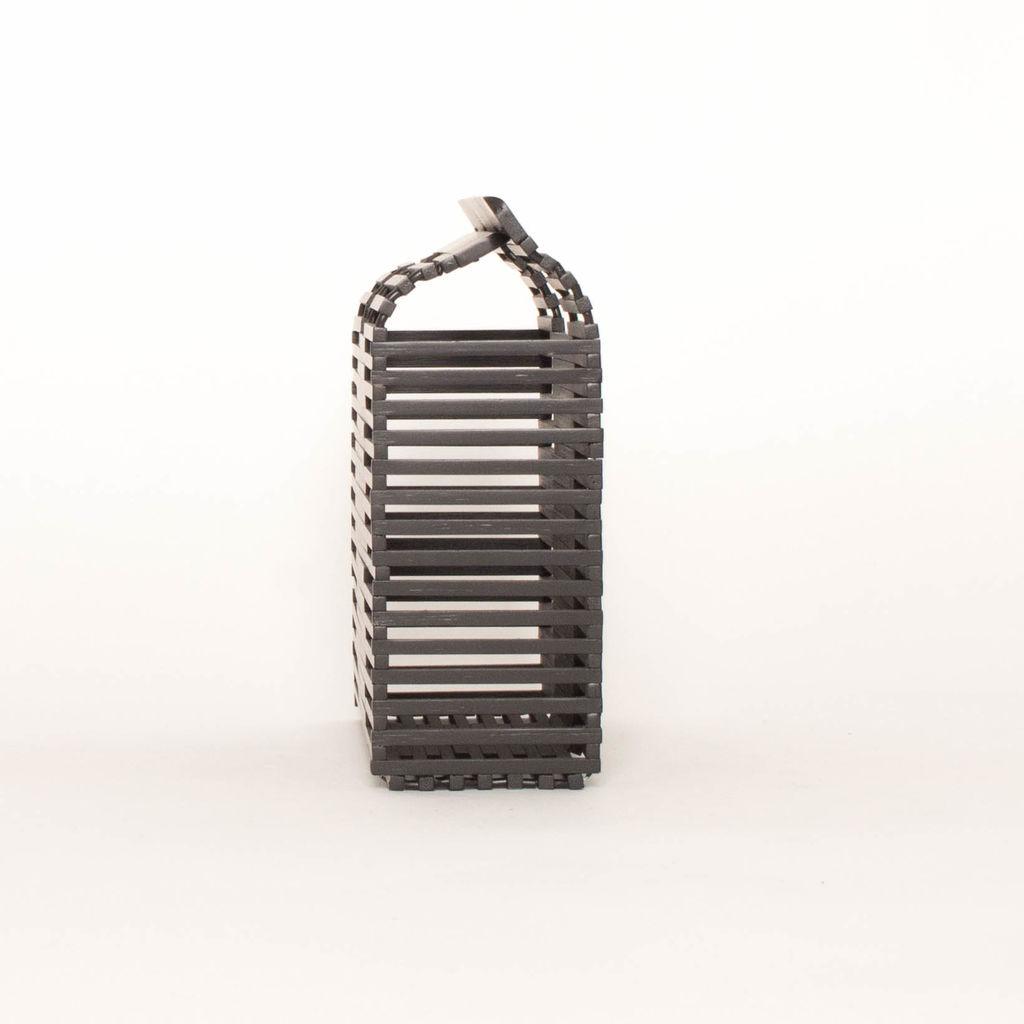 Bamboo Box Bag with Handles