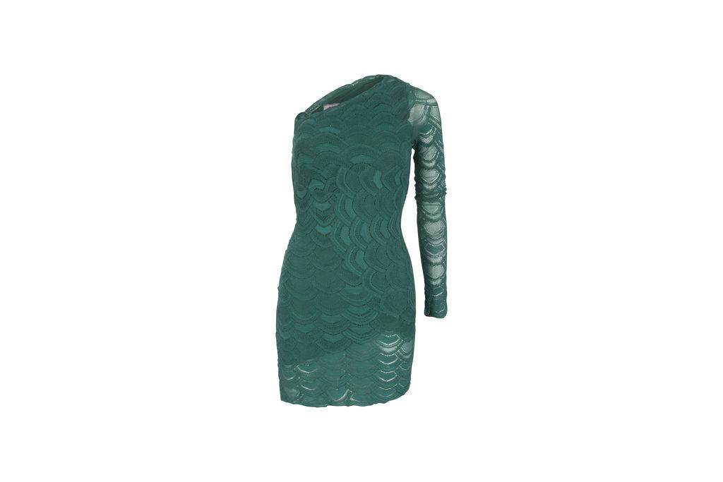 Nightcap X Carisa Rene Green One Sleeve Dress