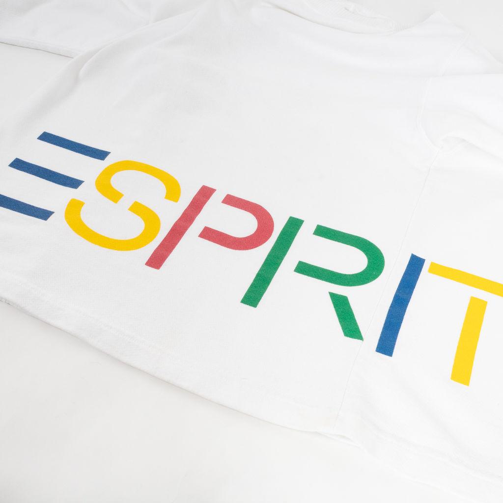 Esprit Wrap-Around Text Long Sleeve Shirt