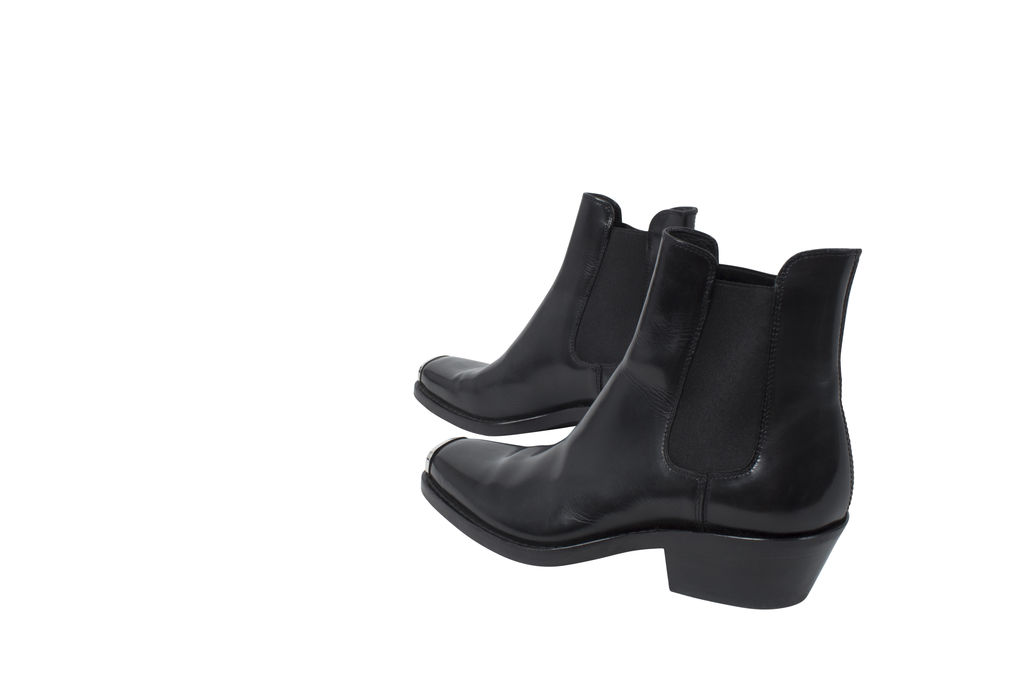 Calvin Klein 205W39NYC Square Toe Leather Boots
