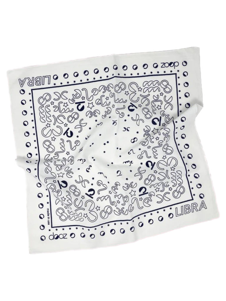 DOOZ Libra Bandana + Keychain Set in White