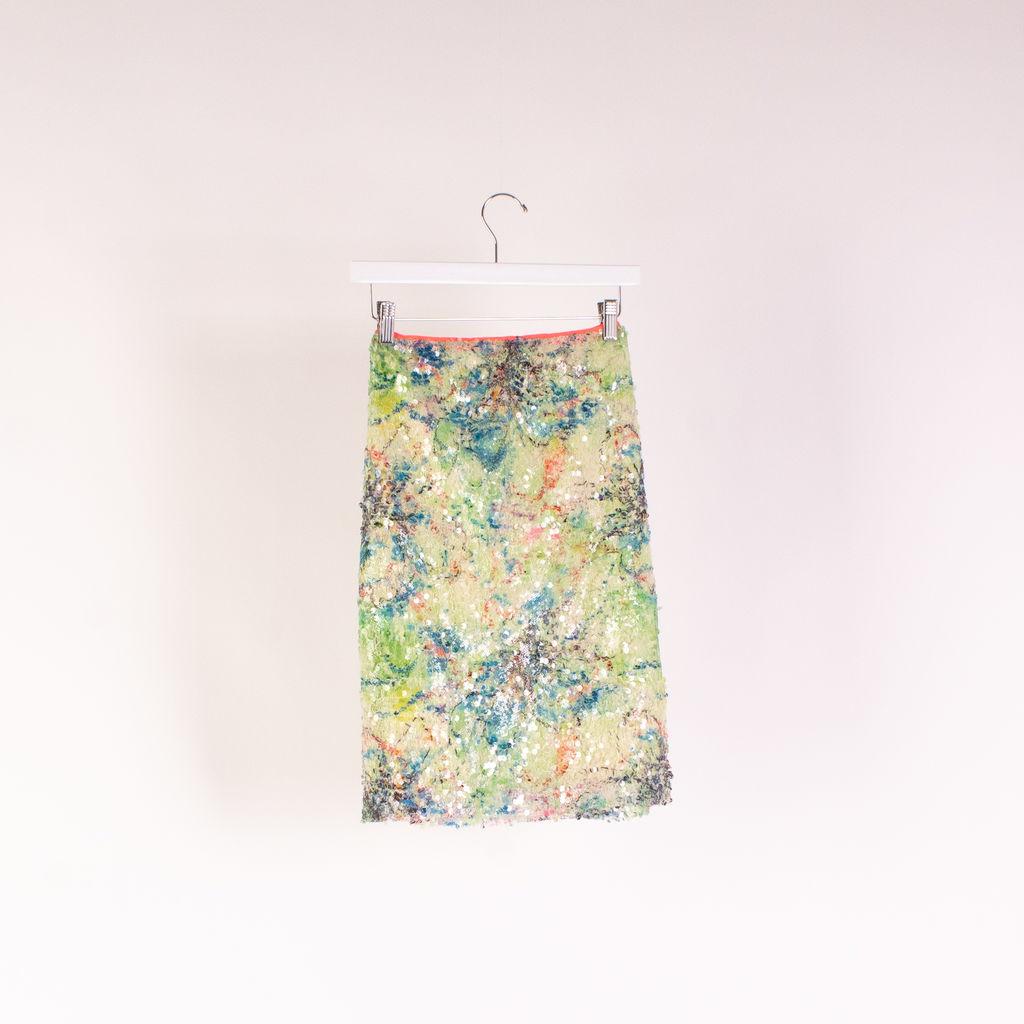 Elie Tahari Sequin Vera Skirt