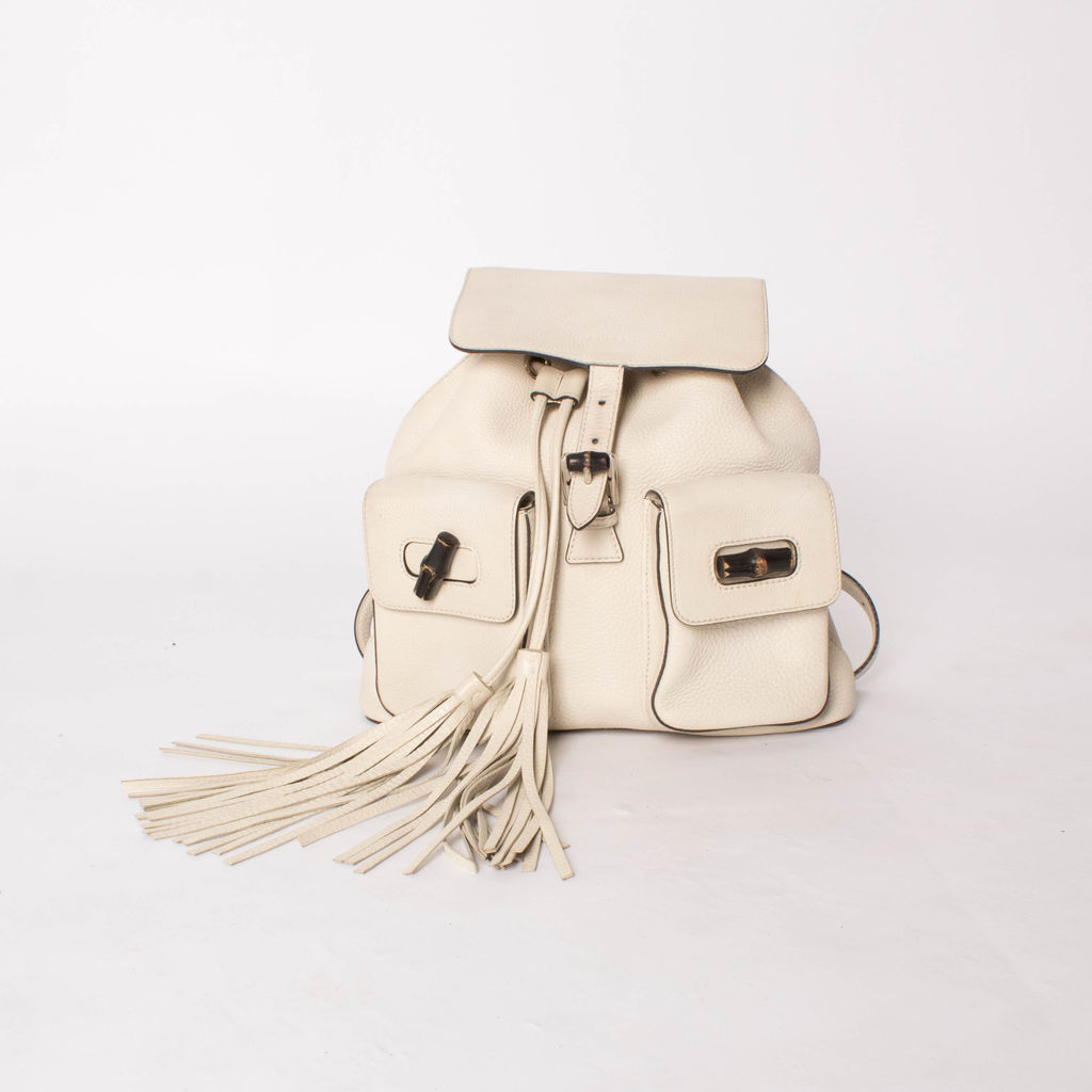 Gucci Bamboo Handle Toggle Backpack