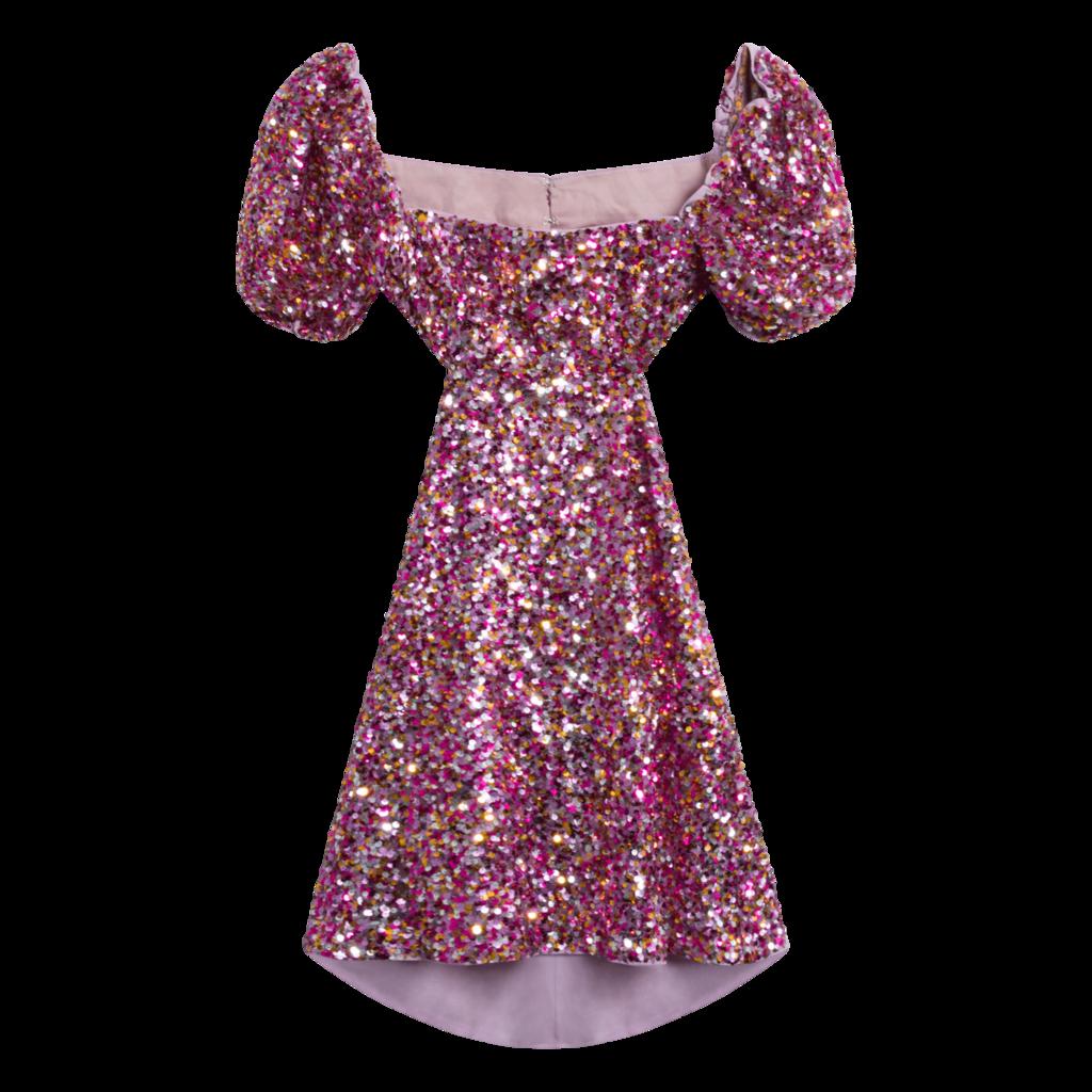 LPA Ilana Sequin Cut-Out Mini Dress