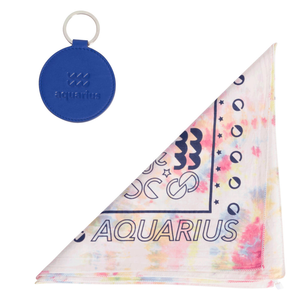 DOOZ Aquarius Bandana + Keychain Set in Tie Dye