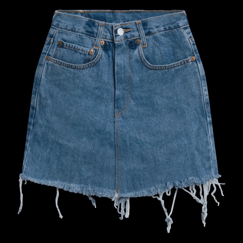 Levi's Vintage 550 Denim Skirt - Light Blue