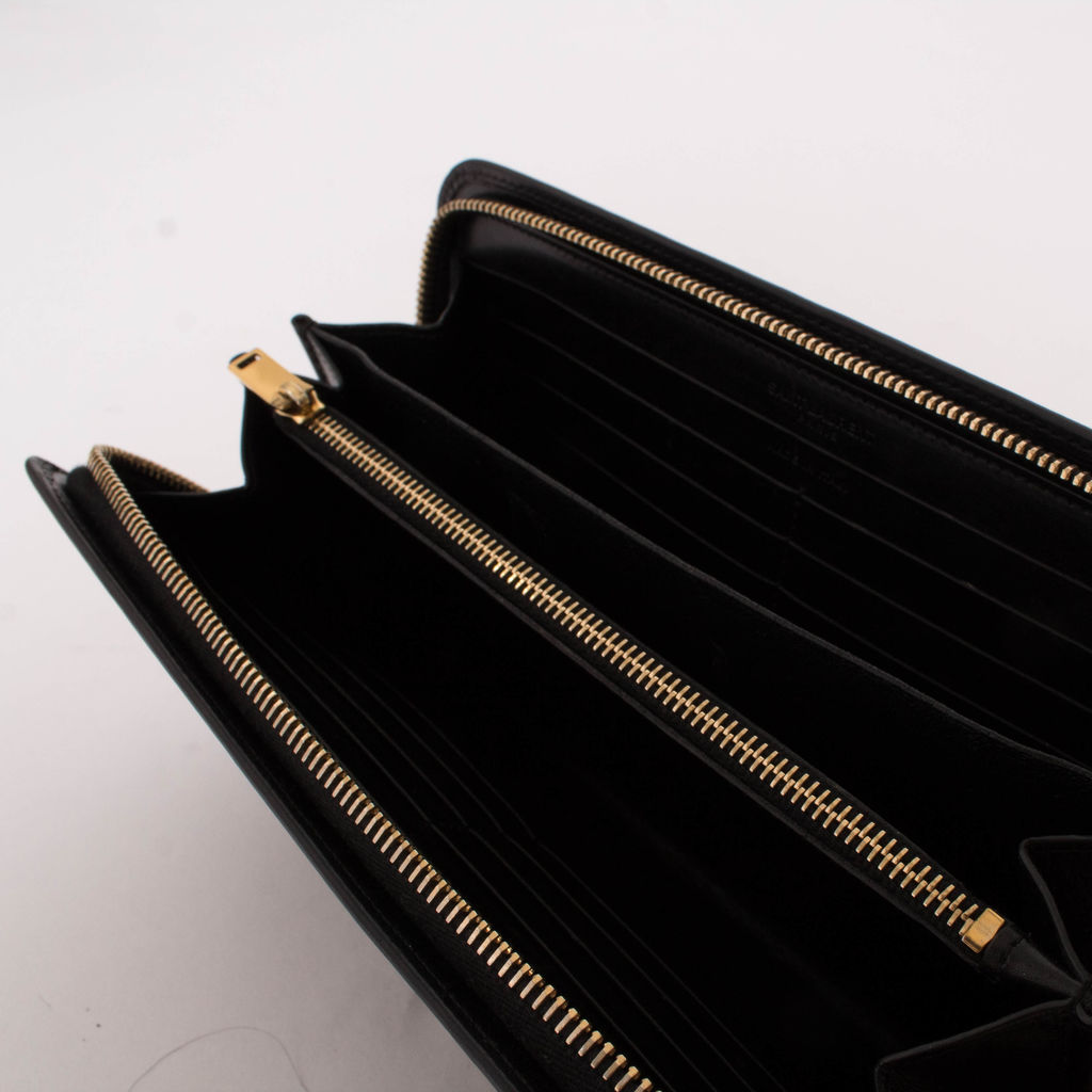 Saint Laurent Black Zip Wallet